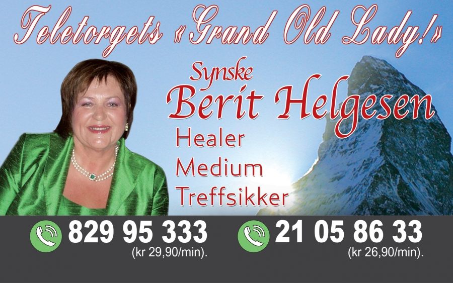 Berit Helgesen, teletorgets «Grand Old Lady!»